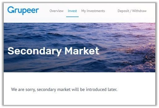 Grupeer secondary market example