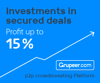 Investments in secured deals through Grupeer. Profits up to 15%