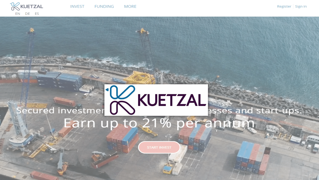 Kuetzal - One of the emerging peer to peer platforms in Europe that is offering high yielding investment opportunities.