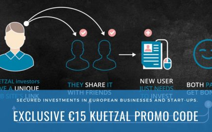 Using the Kuetzal promo code, investors can get €15 as a bonus when signing up to the platform