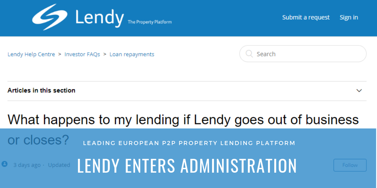 Europe's Leading Peer to Peer Secured Property Lending Platforms Enters Administration