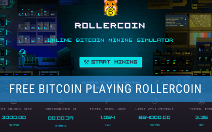 Earning bitcoing through Rollercoin header image