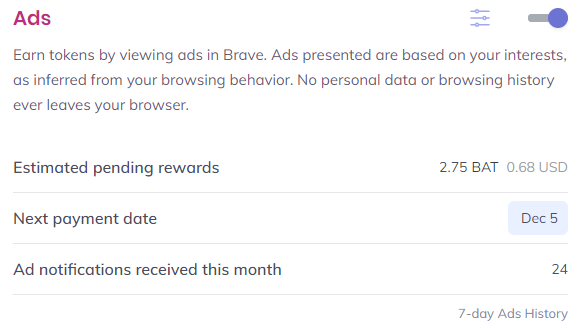 Brave Browser Rewards