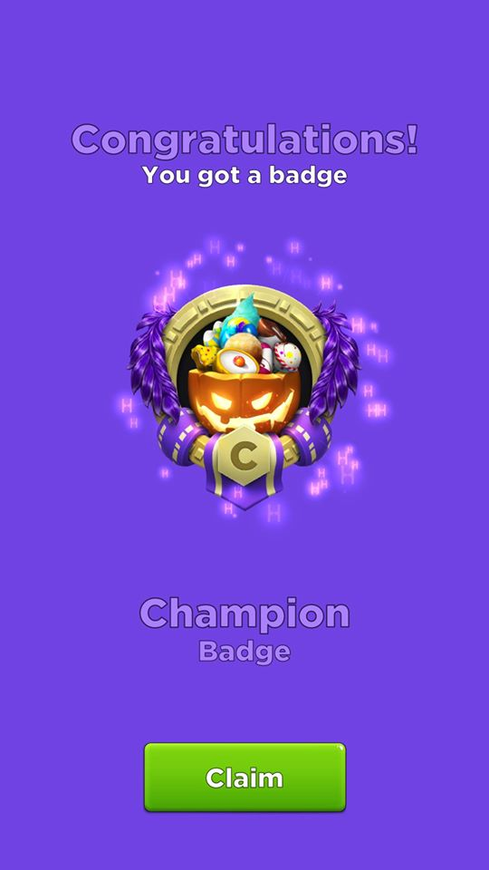 Champion Badge for Completing Spooky Event 2019 Crypto Idle Miner
