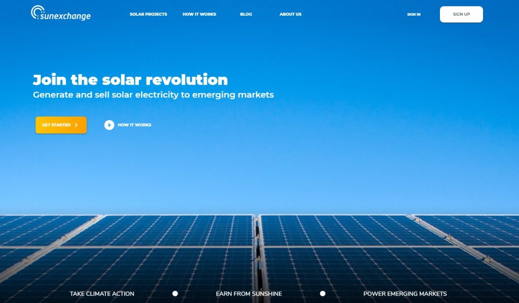 The Sun Exchange Homepage Image