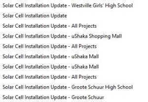 installation emails