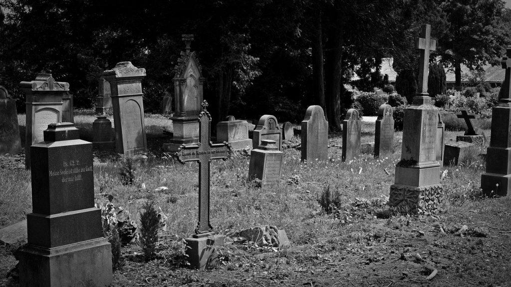 cemetery, old grave stones, old cemetery